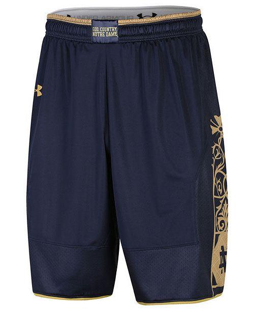 3c1f32ca2044 ... Under Armour Men's Notre Dame Fighting Irish Replica Basketball Shorts  ...