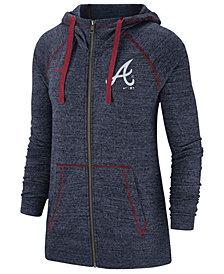 Nike Women's Atlanta Braves Gym Vintage Full-Zip Hooded Sweatshirt