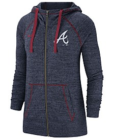 Nike Women's Atlanta Braves Gym Vintage Full-Zip Hooded Sweatshirt
