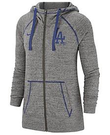 Women's Los Angeles Dodgers Gym Vintage Full-Zip Hooded Sweatshirt