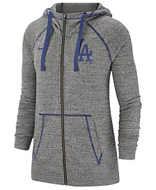 Nike Women's Los Angeles Dodgers Gym Vintage Full-Zip Hooded Sweatshirt