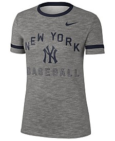 Nike Women's New York Yankees Slub Crew Ringer T-Shirt