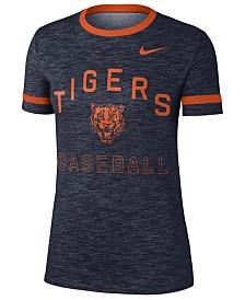 Nike Women's Detroit Tigers Slub Crew Ringer T-Shirt