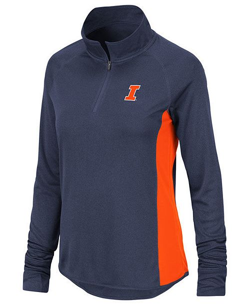 Colosseum Women's Illinois Fighting Illini Albi Quarter-Zip Pullover