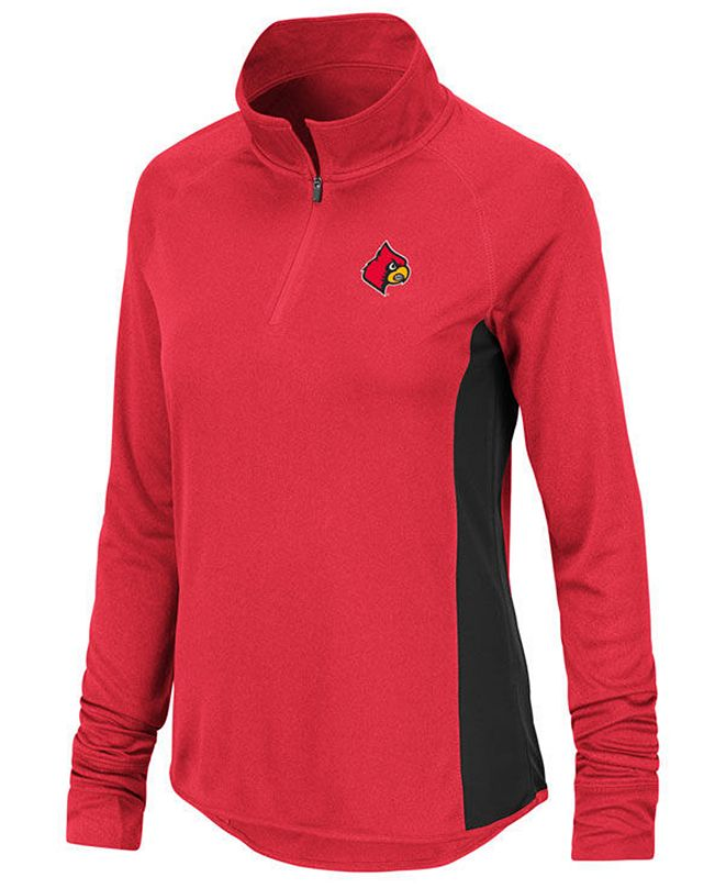 Colosseum Women's Louisville Cardinals Albi Quarter-Zip Pullover