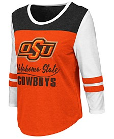 Colosseum Women's Oklahoma State Cowboys Colorblocked Raglan T-Shirt