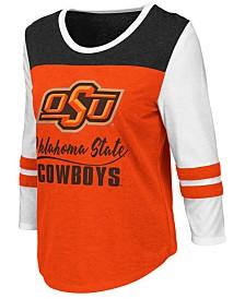 Colosseum Women's Oklahoma State Cowboys Colorblocked Raglan T-Shirt
