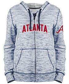5th & Ocean Women's Atlanta Braves Space Dye Hoodie