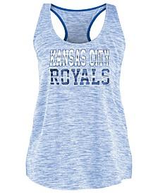 5th & Ocean Women's Kansas City Royals Space Dye Back Logo Tank