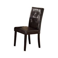 Faux Leather Dining Side Chair in Pine - Set Of 2