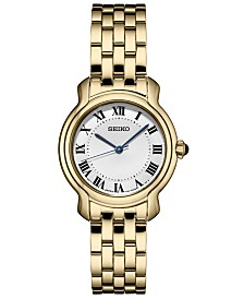 Seiko Women's Essential Gold-Tone Stainless Steel Bracelet Watch 29mm