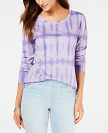 Style & Co Printed Crewneck Top, Created for Macy's