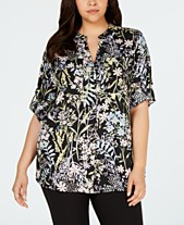 1db9c73194 Calvin Klein Plus Size Floral-Print Shirt