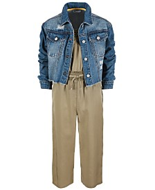Epic Threads Big Girls Jumpsuit & Denim Jacket, Created for Macy's