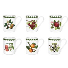 Portmeirion Pomona Tankard Coffee Mug, Assorted Set/6
