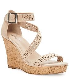 CHARLES by Charles David Landon Platform Wedge Sandals