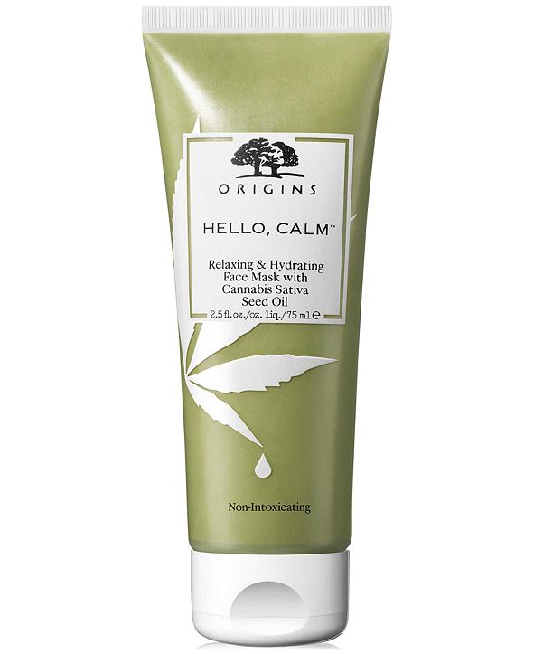 Origins Hello, Calm Relaxing & Hydrating Face Mask With Cannabis Sativa Seed Oil, 2.5-oz.