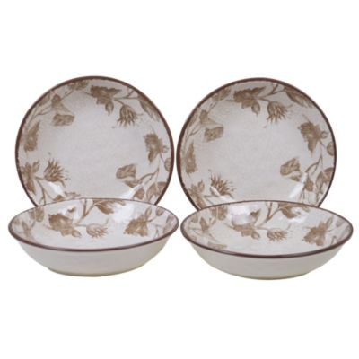 Toile Rooster 4-Pc. Soup/Pasta Bowl