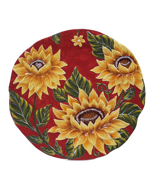 Certified International Sunset Sunflower Round Platter