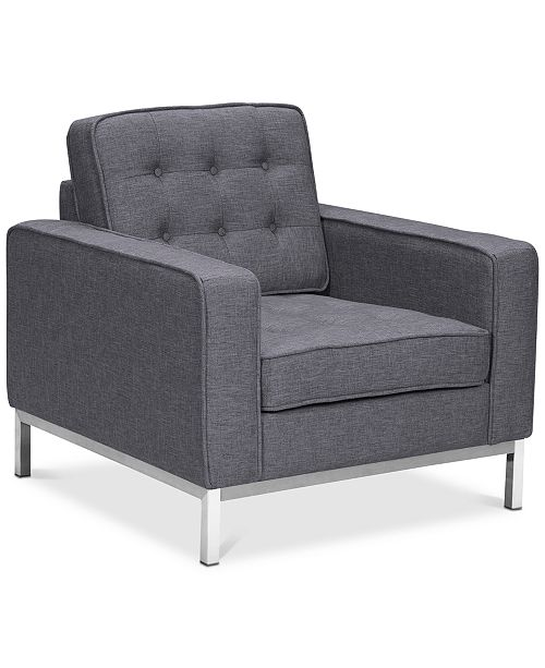 Armen Living Chandler Sofa Chair, Quick Ship