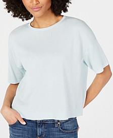 Tencel® Round-Neck Short-Sleeve Top, Regular & Petite