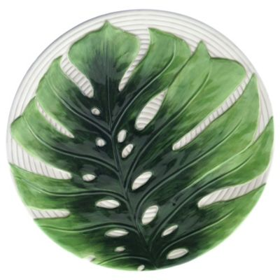 Palm Leaves 3-D Embossed Charger Plate