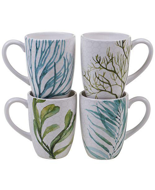 Certified International Sea Greens 4-Pc. Mug