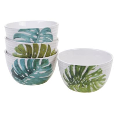 Palm Leaves 4-Pc. Ice Cream Bowl