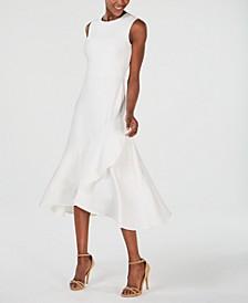 Sleeveless Flounce-Hem A-Line Dress