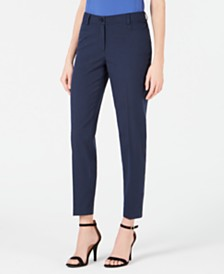 Anne Klein Striped Seersucker Pants