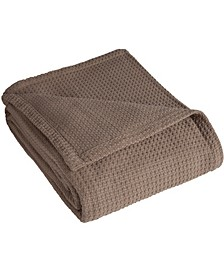 Grand Hotel Waffle Knit Cotton Twin Blanket