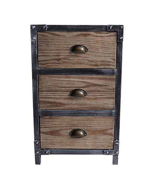 Armen Living Nyx 3 Drawer End Table