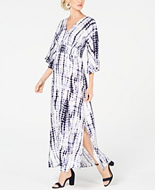 INC Petite Kimono-Sleeve Tie Dye Maxi Dress, Created for Macy's
