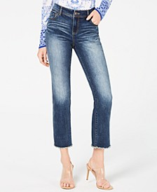 INC Raw-Hem Straight-Leg Cropped Jeans, Created for Macy's