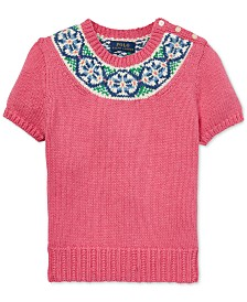 Polo Ralph Lauren Big Girls Fair Isle Cotton Sweater