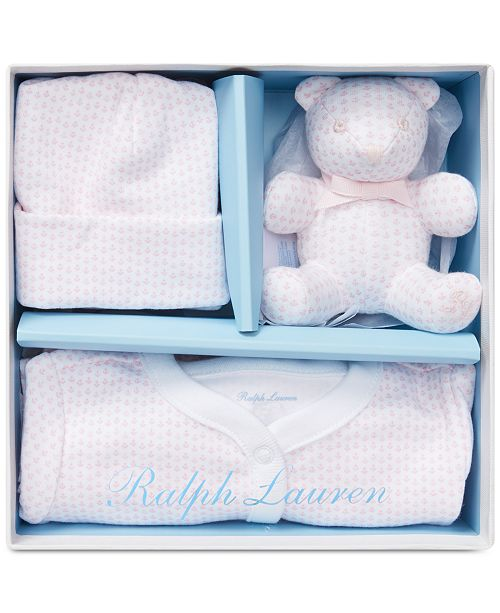 7592ca87f3fe3 Polo Ralph Lauren Baby Girls Anchor-Print Gift Box Set   Reviews ...