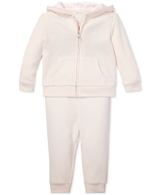 Polo Ralph Lauren Baby Girls French Terry Hoodie & Pants Set