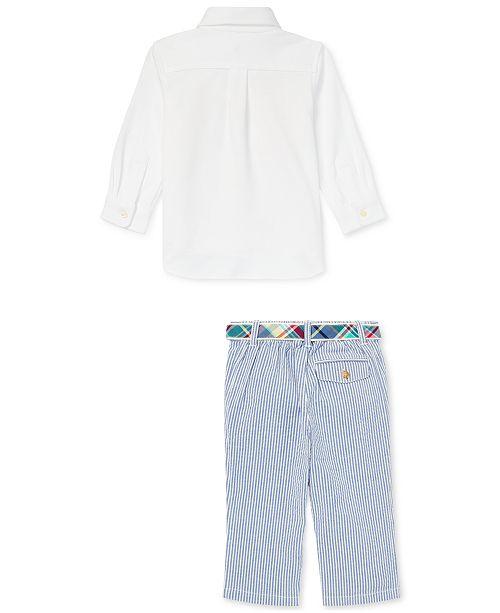 ae7c893fe Polo Ralph Lauren Baby Boys Belt   Pants Set   Reviews - Sets ...