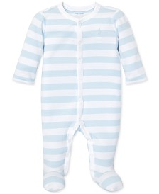 Polo Ralph Lauren Baby Boys Striped Cotton Interlock Coverall