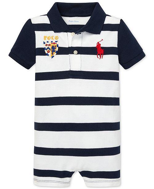 7699da9ac Polo Ralph Lauren Baby Boys Striped Cotton Polo Shortall   Reviews ...