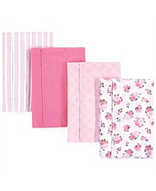Unisex Baby Flannel Burp Cloths, One Size
