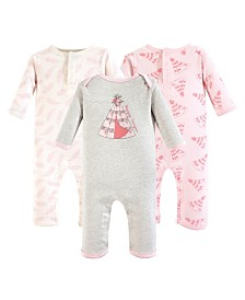 Yoga Sprout Unisex Baby Union Suits/Coveralls, 3-Pack, 0-24 Months