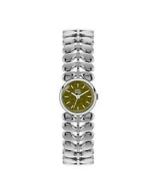 Orla Kiely Watch, Stainless Steel Bracelet, Double Jewelry Clasp