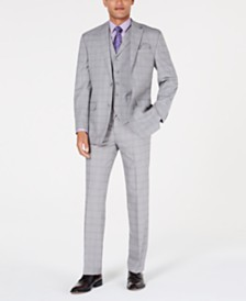 Sean John Grey Windowpane Classic-Fit Suit Separates