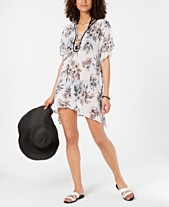 4a94e3e9d1b0fd Miken Juniors' Strappy-Neck Printed Cover-Up, Created for Macy's