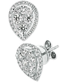 Le Vian® Diamond Stud Earrings (1/2 ct. t.w.) in 14k White Gold