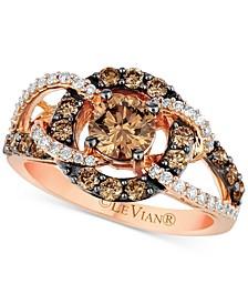 Chocolatier® Diamond Statement Ring (1-1/2 ct. t.w.) in 14k Rose Gold