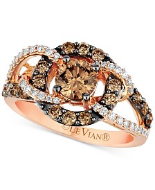 Le Vian Chocolatier® Diamond Statement Ring (1-1/2 ct. t.w.) in 14k Rose Gold