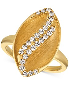 Le Vian® Vanilla Diamond Marquise Statement Ring (3/8 ct. t.w.) in 14k Gold