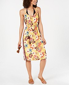 Floral Desert Tropic Printed Cover-Up Dress